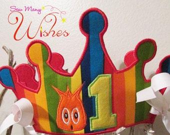 Monster's 1st Birthday Crown
