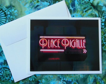 Pike Place Market Neon - Card - Blank Inside