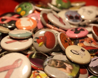 "20x - 1.00"" Custom pinback buttons"