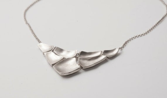 Parched Earth - Sterling Silver Necklace, sterling silver pendant, AA