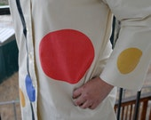 ON HOLD 4 radlovevintage // Abstract Expressionist 60s Vintage Trench Coat / / Large / XL