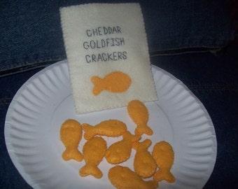 Felt Goldfish Crackers