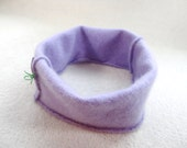 Cashmere Earwarmer Headband LAVENDER PURPLE Ear Warmer Head Band Hair Accessory Upcycled Sweater by WormeWoole