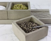 NEX GEN CADDY-3. Spice Holders. Cement Spice Containers. - Culinarium