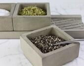 NEX GEN CADDY-3. Spice Holders. Cement Spice Containers. - Culinarium