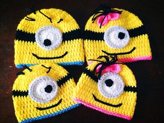 Minion Crochet beanie PRE-ORDER SALE