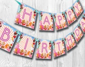 California Girls Party, Candy Party, Katy Perry Inspired- PRINTABLE BIRTHDAY BANNER - Cutie Putti Paperie