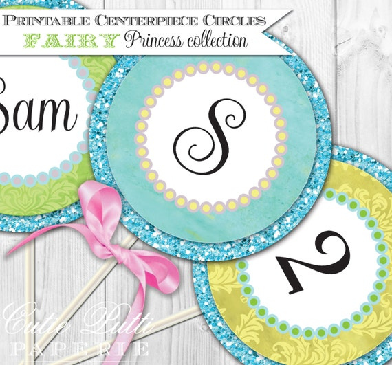 """Fairy Party Printable 4"""" Custom Party Circles by Cutie Putti Paperie"""