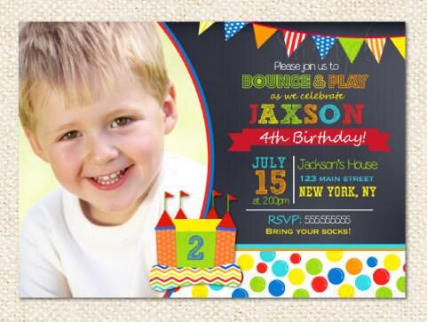 bounce house birthday invitations bounce house, Birthday invitations