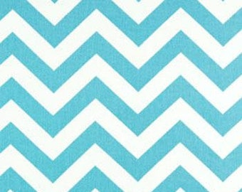Premier Prints Chevron Zig Zag Girly Blue/ Teal Twill, ONE yard, Yardage, Home Decor