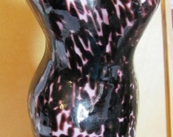 Full Figure Lady Vase made with Layers of Glass