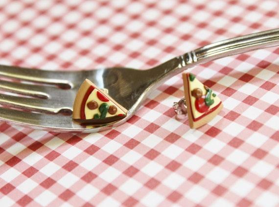 Fun Food Earrings... Pizza Slices