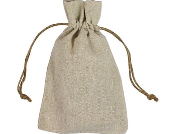 Linen Bags - 4x6 Linen Bags - 12 Natural Linen Bags - Special Occasion Gift Bags