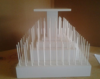 5 Tier Square Cake Pop Stand With Stackable Tiers.  Holds 140 Cake Pops.