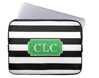 Personalized Laptop Sleeve - Design your Own Laptop Case - Monogram Laptop Cover, Monogrammed Laptop Case