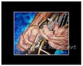 Dancing Hands 8x10 inch print - closeup of guitar player