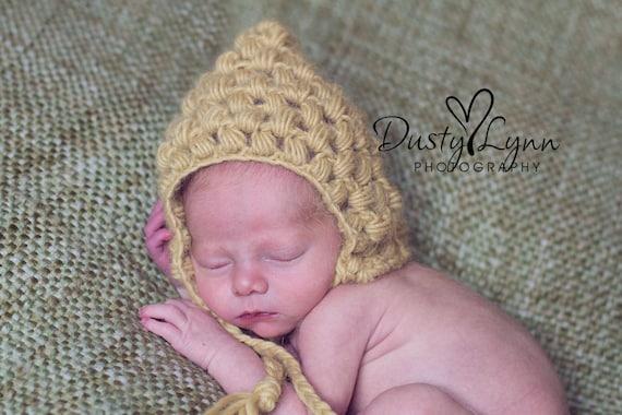 Free Crochet Patterns For Newborn Baby Boy Booties : baby boy clothes crochet pattern Puff stitch pixie hat