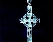Long CELTIC Cross in STERLING Silver