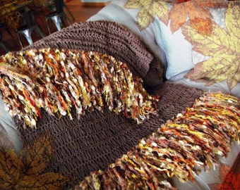 Autumn Decor Home Decor Blanket Decoration Brown Housewares