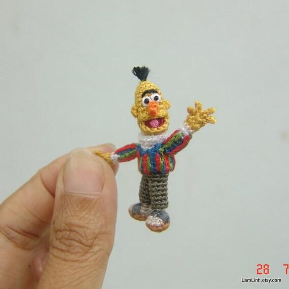 tiny crochet miniature doll _ dollhouse tiny amigurumi _ slim