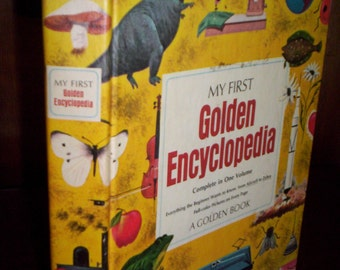 """Vintage 60's """"My First Golden Encyclopedia"""" Golden Book for Children 1969 - Illustrated - Library - Educational - Teaching"""