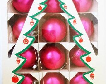 REDUCED 1950's Shiny Brite Box of Glass Xmas Ornaments