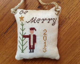 """5th in series-""""2013"""" Christmas pillow ornament"""