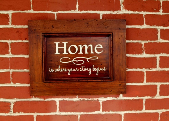 "14"" x 18"" Wooden Sign - Home is where your story begins - READY TO SHIP"