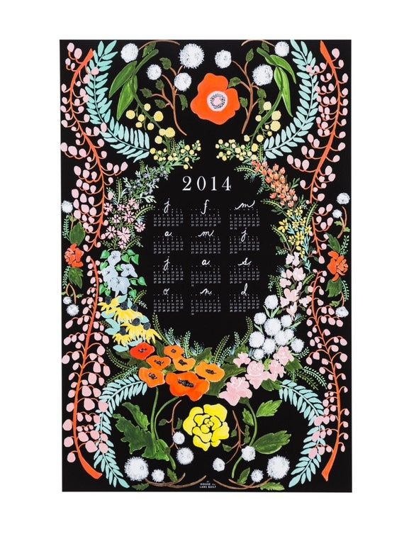 2015 Language of Flowers wall calendar