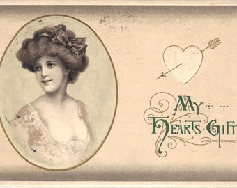 My Hearts Gift - Glamour Girl Valentine's Day - Postcard