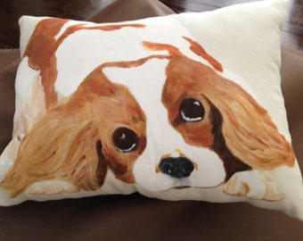 A must for Cavalier lovers.  This pillow can sit anywhere in your home.