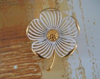 Vintage MONET Flower Brooch