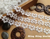 Venice Lace Trim,Ivory Lace,Bowknot and Flower Lace Trim for Costume Desige,headband 0.86 inches 2 yards (L98)