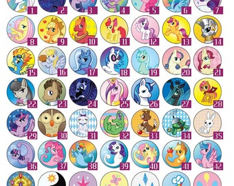My Little Pony Friendship is magic  buttons you pick any 5 or more pins/buttons