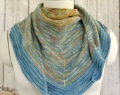 Merino and Silk Soft Striped Large Shawl