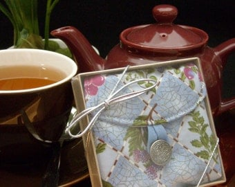 Tea Bag Travel Wallet - Fruit and Flowers, Hostess Gift, Free Shipping - USA, Ships Worldwide