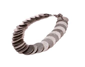 Metal coin Collar necklace
