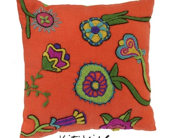 Quirky Crewel PDF Download Embroidery Pattern is a super fun project to stitch.