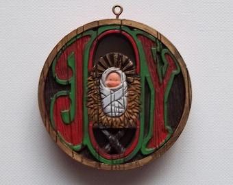 JOY hallmark ornament
