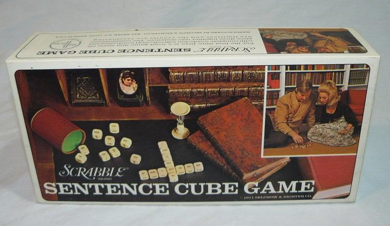 SCRABBLE Sentence CUBE Game Word Combination VINTAGE 1971