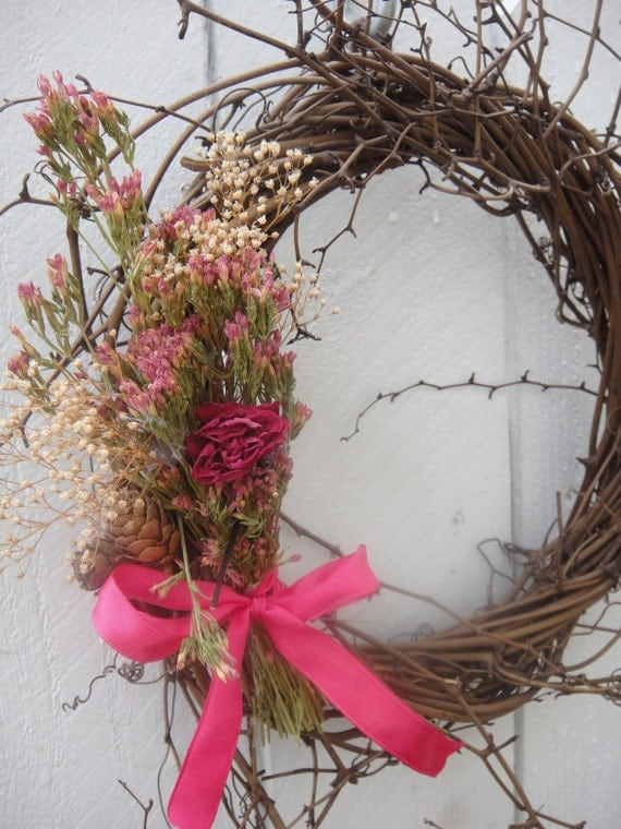 Twig wreath natural wreath home decor front by donnahubbard for Twig decorations home