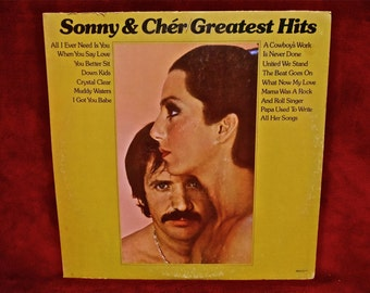 SONNY & CHER - Greatest Hits - 1974 Vintage Vinyl Record Album