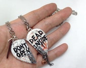 GUO GUO'S - Dont Open Dead Inside Heart Door Necklace / BFF Set / Key chain / Ring / Brooch / Made to Order