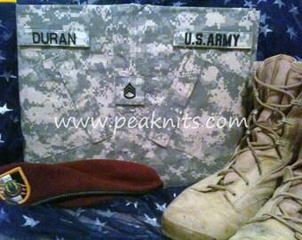 Handmade Military Army ACU Scrapbook or Memory Book - 3 Ring 12x12 Inch Refillable Binder