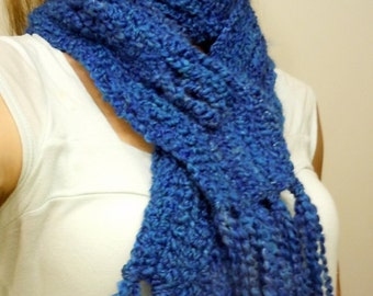 Brilliant Blue Warm Soft Scarf