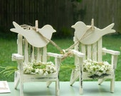 Summer Chair- Adirondack Cake Topper Hand painted Shabby chic The Modern Vintage Bride
