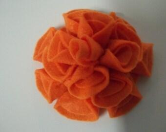 Add a Felt Flower to any Sleep Mask - Orange