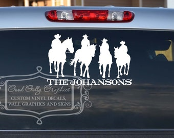 Horse family decal