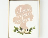 I Love You Mother's Day Card 10pcs