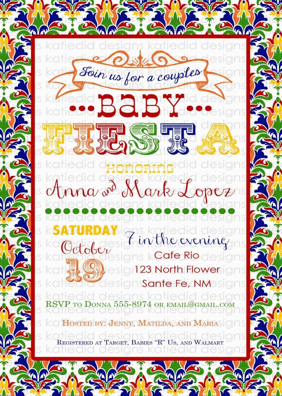 Fiesta baby shower invitation fiesta gender reveal - Fiesta baby shower ...
